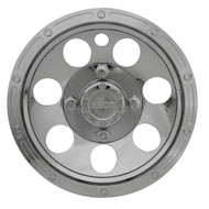 "Golf Cart Wheel Cover Hub Cap, 10"" Beadlock Chrome for Steel Wheels"