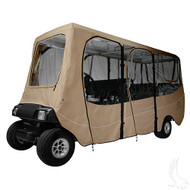 "Golf Cart Enclosure, 6 Passenger Carts with Up to 124"" Top"