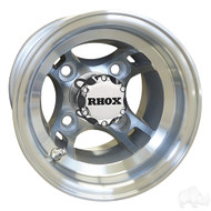 Golf Cart Wheel, 8x7 Machined with Offset