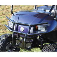 Golf Cart Front Brush Guard, Black Powder Coat Steel, Yamaha Drive