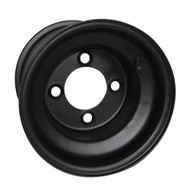 Golf Cart Wheel, 8x7 Standard, Black, Steel