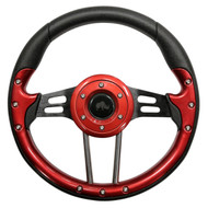 "Aviator 4 Steering Wheel, Red/Black, 13"" Diameter"