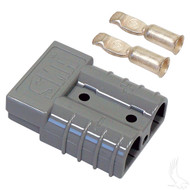 Golf Cart Charger Plug, SB50 with Two 6 Gauge Tips, Cart Side