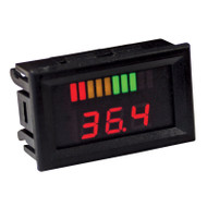 Digital Golf Cart Battery Pack Voltage Display Charge Meter, Horizontal, 36V/48V