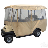 "Golf Cart Enclosure, Deluxe 4-Sided for 88"" Top"