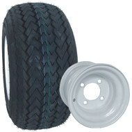 Kenda Hole-In-One 18x8.5-8 Golf Cart Tire on 8x7 Steel Wheel