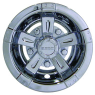 "Golf Cart Wheel Cover Hub Cap, 8"" Vegas Chrome for Steel Wheels"