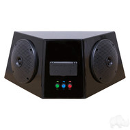 Golf Cart Audio Center with Bluetooth Amp, Power Center and Speakers