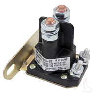 Golf Cart Solenoid, 14V Four Terminal Silver EZGO 4-Cycle Gas 94+ Medalist/TXT