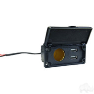 Golf Cart Power Center with 12V Outlet and Dual USB Charging Ports