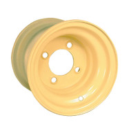 "8"" Steel Beige Golf Cart Wheel with Offset"