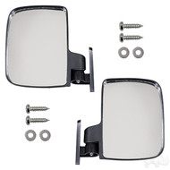 Golf Cart UTV Style Sidemount Mirrors, Set of 2