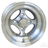 Golf Cart Wheel, 10x7 Machined Finish