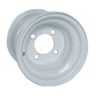 "8"" Steel White Golf Cart Wheel, Standard"