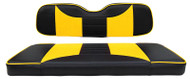 Custom Golf Cart Seat Covers, Black and Yellow