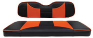Custom Golf Cart Seat Covers, Black and Orange