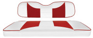 Custom Golf Cart Seat Covers, White and Red