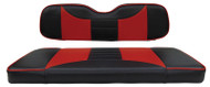 Custom Golf Cart Seat Covers, Black and Red