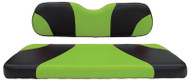 Custom Golf Cart Seat Covers, Black and Green