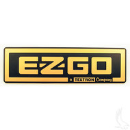 Golf Cart Replacement Emblem, Black & Gold, EZGO TXT 96-13