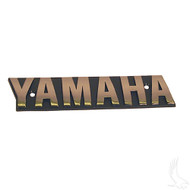 Golf Cart Replacement Emblem, Black & Gold, Yamaha G16-G19 1996+