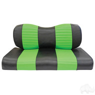 Black/Lime Golf Cart Seat Covers, Yamaha Drive