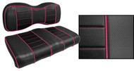 Express Custom Golf Cart Seat Covers, Black with Pink Accents