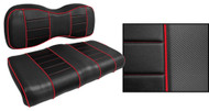 Express Custom Golf Cart Seat Covers, Black with Red Accents
