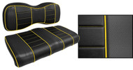 Express Custom Golf Cart Seat Covers, Black with Yellow Accents