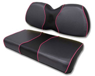Hourglass Custom Golf Cart Seat Covers with Piping