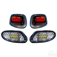 Factory Style Golf Cart Light Kit with LED Bulbs, EZGO TXT 2014+