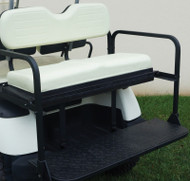 Golf Cart Flip Rear Seat with Thermoplastic Utilideck, Yamaha G14-G22