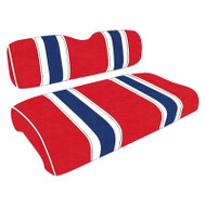 Patriotic Three Tone Stripe Custom Golf Cart Seat Covers
