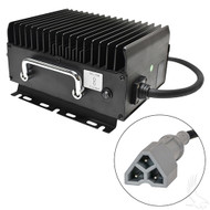 Golf Cart Battery Charger, EZGO 3-Pin, 11 Amps, 48 Volts