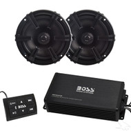 "Premium Golf Cart Bluetooth Audio Package with Marine Grade Amp and 5.25"" Speakers (RAD-052)"