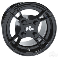 Golf Cart Wheel, 10x7 Gloss Black RX176