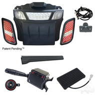 LED Light Bar Bumper Kit Package, EZGO RXV 2008-2015 (LGT-311L-PKG)