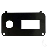 Golf Cart Key Switch Console Plate, EZGO Medalist/TXT w/State of Charge Meter