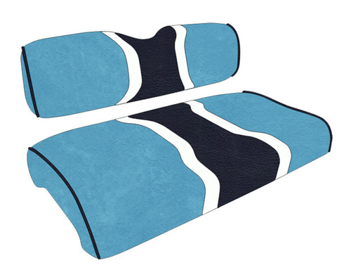 North Carolina Tarheels Golf Cart Seat Covers, Hourglass Stripe