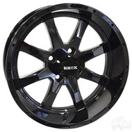 Golf Cart Wheel, 15x6 Gloss Black RX375