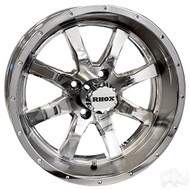 Golf Cart Wheel, 15x6 Chrome Finish RX375