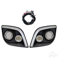Golf Cart LED Headlights with LED Accent Lights, EZGO Express