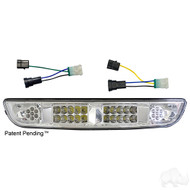 Golf Cart Headlight Bar with Adapters for Factory Harness, LED, EZGO Medalist/TXT 1994-2013