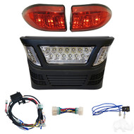 Golf Cart LED Light Kit with LED Accent Lights, Club Car Precedent Gas