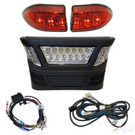 Golf Cart LED Light Kit with LED Accent Lights, Club Car Precedent Electric 2008.5+