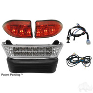Golf Cart LED Light Bar Bumper Kit, Club Car Precedent Electric 08.5+