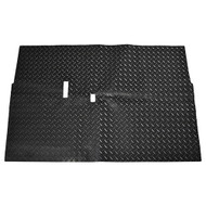Golf Cart Diamond Plate Rubber Floor Mat, Club Car DS 82+