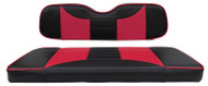 Golf Cart Custom Seat Covers, Black and Pink, Yamaha Drive/Drive2
