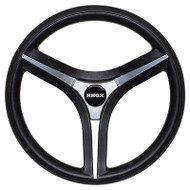 Golf Cart Steering Wheel with Steering Column Adapter, Silver