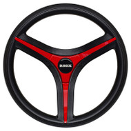 Golf Cart Steering Wheel with Steering Column Adapter, Red